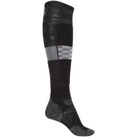 SmartWool PhD Ski Light Elite Pattern Socks - Merino Wool, Over the Calf (For Men and Women) in Black - Closeouts