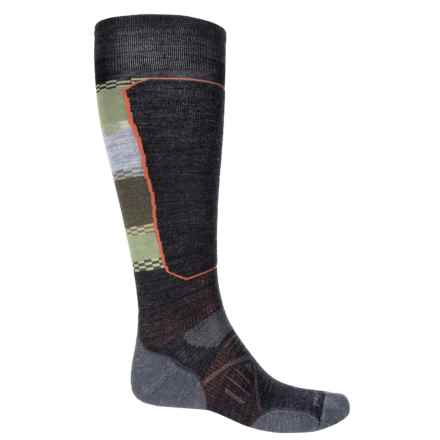SmartWool PhD Ski Light Elite Pattern Socks - Merino Wool, Over the Calf (For Men and Women) in Charcoal - Closeouts