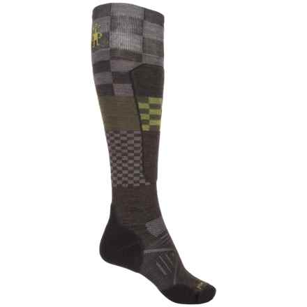 SmartWool PhD Ski Light Elite Pattern Socks - Merino Wool, Over the Calf (For Men and Women) in Chestnut - Closeouts