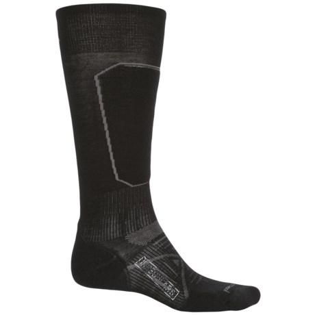 SmartWool PhD Ski Light Elite Socks - Merino Wool, Over the Calf (For Men) in Black