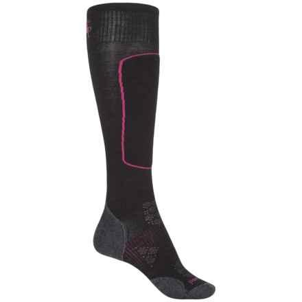 SmartWool PhD Ski Light Elite Socks - Merino Wool, Over the Calf (For Women) in Black - 2nds