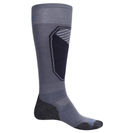 SmartWool PhD Ski Light Pattern Socks - Merino Wool, Over the Calf (For Men and Women) in Graphite