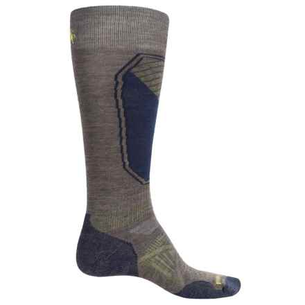 SmartWool PhD Ski Light Pattern Socks - Merino Wool, Over the Calf (For Men and Women) in Taupe - Closeouts