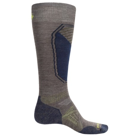 SmartWool PhD Ski Light Pattern Socks - Merino Wool, Over the Calf (For Men and Women) in Taupe