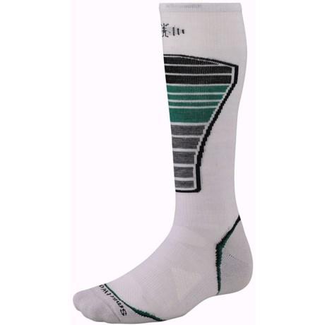 SmartWool PhD Ski Light Socks - Merino Wool (For Men and Women) in Silver