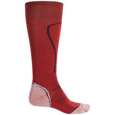 SmartWool PhD Ski Light Socks - Merino Wool, Over the Calf (For Men) in Fire - Closeouts