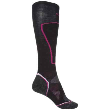 SmartWool PhD Ski Light Socks - Merino Wool, Over the Calf (For Women) in Black - Closeouts