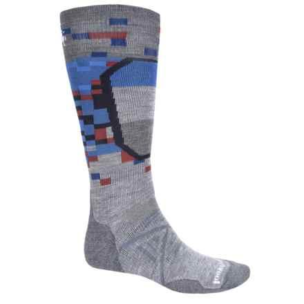SmartWool PhD Ski Medium Pattern Socks - Merino Wool, Over the Calf (For Men and Women) in Light Gray - Closeouts