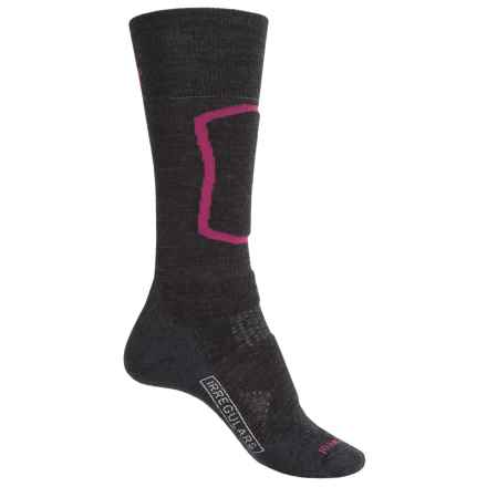 SmartWool PhD Ski Medium Socks - Merino Wool, Mid Calf (For Women) in Charcoal - 2nds