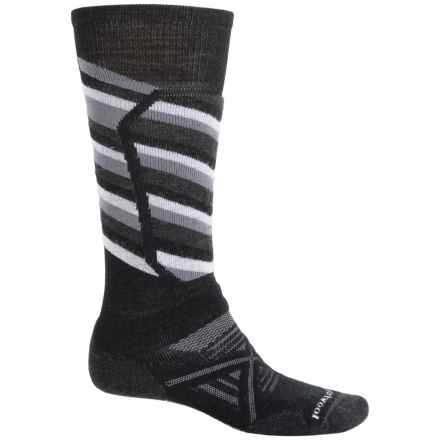 SmartWool PhD Ski Medium Socks - Merino Wool, Over the Calf (For Men) in Black/Charcoal - 2nds