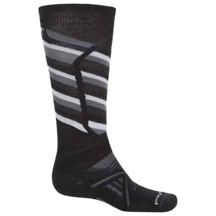 SmartWool PhD Ski Medium Socks - Merino Wool, Over the Calf (For Men) in Black - 2nds