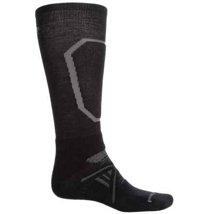 SmartWool PhD Ski Medium Socks - Merino Wool, Over the Calf (For Men) in Black - Closeouts