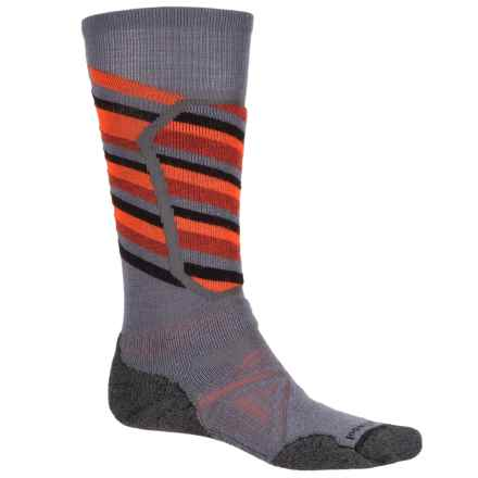 SmartWool PhD Ski Medium Socks - Merino Wool, Over the Calf (For Men) in Graphite - 2nds