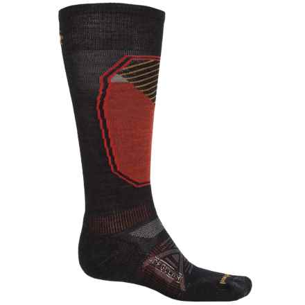 SmartWool PhD Ski Pattern Socks - Merino Wool, Over the Calf (For Men and Women) in Black - 2nds