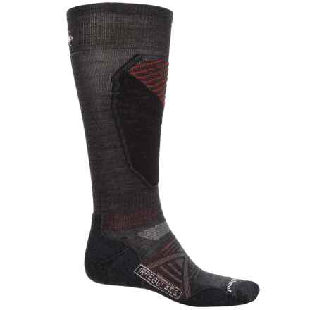 SmartWool PhD Ski Pattern Socks - Merino Wool, Over the Calf (For Men and Women) in Charcoal - 2nds