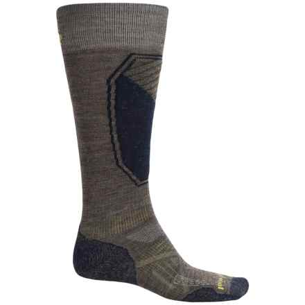 SmartWool PhD Ski Pattern Socks - Merino Wool, Over the Calf (For Men and Women) in Taupe - 2nds