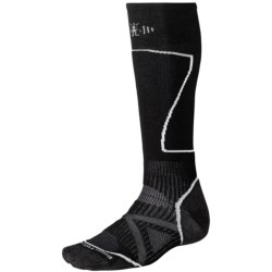 SmartWool PhD Ski Socks - Merino Wool (For Men and Women) in Charcoal