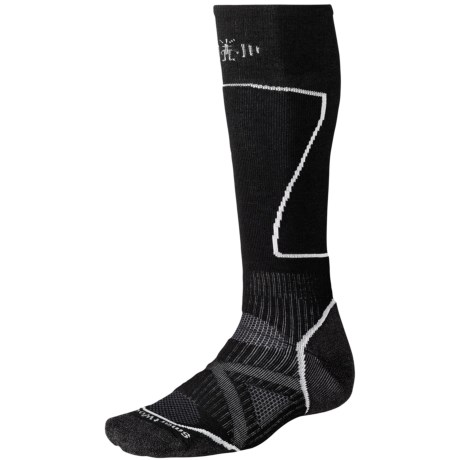 SmartWool PhD Ski Socks - Merino Wool (For Men and Women) in Silver