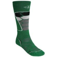 SmartWool PhD Ski Socks - Merino Wool (For Men and Women) in Grasshopper - 2nds