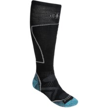 SmartWool PhD Ski Socks - Merino Wool (For Men and Women) in Horizon Blue - 2nds