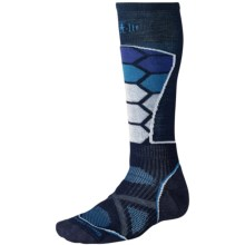 SmartWool PhD Ski Socks - Merino Wool (For Men and Women) in Navy - 2nds