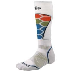SmartWool PhD Ski Socks - Merino Wool (For Men and Women) in Grasshopper