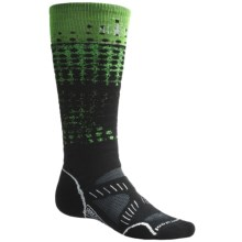 SmartWool PhD Ski Socks - Merino Wool, Medium Cushion (For Men and Women) in Lime - 2nds