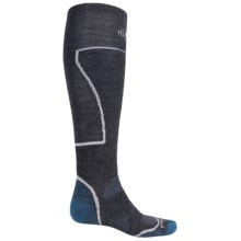 SmartWool PhD Ski Socks - Merino Wool, Over the Calf (For Men and Women) in Graphite/Royal - Closeouts