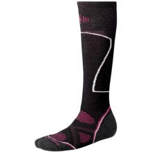 SmartWool PhD Ski Socks - Merino Wool, Over the Calf (For Women) in Black - Closeouts