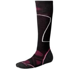 SmartWool PhD Ski Socks - Merino Wool, Over-the-Calf (For Women) in Black - 2nds