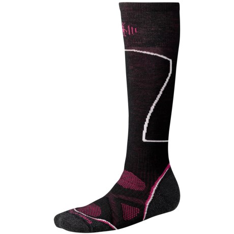 SmartWool PhD Ski Socks - Merino Wool, Over-the-Calf (For Women) in Black