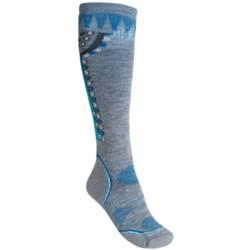 SmartWool PhD Ski Socks - Merino Wool, Over-the-Calf (For Women) in Black/Punch
