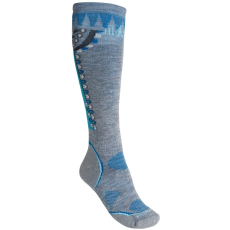 SmartWool PhD Ski Socks - Merino Wool, Over-the-Calf (For Women) in Light Grey