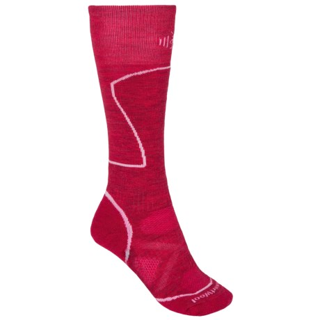 SmartWool PhD Ski Socks - Merino Wool, Over-the-Calf (For Women) in Persian Red