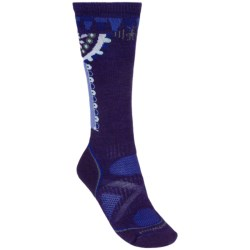 SmartWool PhD Ski Socks - Merino Wool, Over-the-Calf (For Women) in Black/Punch