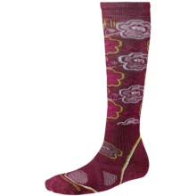 SmartWool PhD Ski Socks - Merino Wool, Over-the-Calf (For Women) in Wine - 2nds