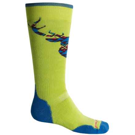 SmartWool PhD Slopestyle Akaigawa Socks - Merino Wool, Over the Calf (For Men and Women) in Smartwool Green - 2nds