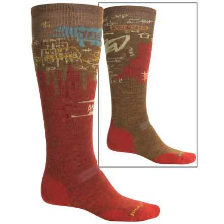 SmartWool PhD Slopestyle Craigieburn Ski Socks - Merino Wool, Over the Calf (For Men and Women) in Moab Rust - Closeouts