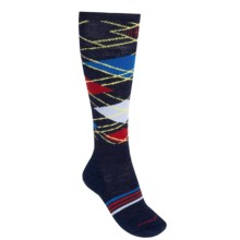 SmartWool PhD Slopestyle Diamond Lamb Socks - Merino Wool, Over-the-Calf (For Men and Women) in Navy - 2nds
