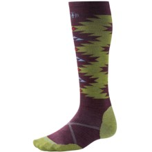 SmartWool PhD Slopestyle Flat Spin Socks - Merino Wool, Over the Calf (For Men and Women) in Aubergine - Closeouts