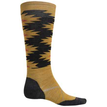 SmartWool PhD Slopestyle Flat Spin Socks - Merino Wool, Over the Calf (For Men and Women) in Sunglow - Closeouts