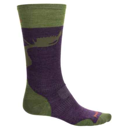 SmartWool PhD Slopestyle La Grave Ski Socks - Merino Wool, Over the Calf (For Men and Women) in Mountain Purple - Closeouts