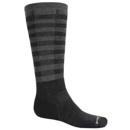 SmartWool PhD Slopestyle Light Ifrane Socks - Merino Wool, Over the Calf (Men and Women) in Charcoal - 2nds