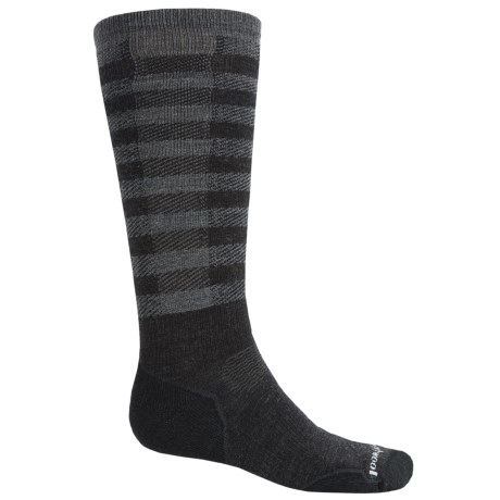 SmartWool PhD Slopestyle Light Ifrane Socks - Merino Wool, Over the Calf (Men and Women) in Charcoal