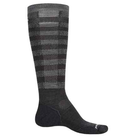 SmartWool PhD Slopestyle Light Ifrane Socks - Merino Wool, Over the Calf (Men and Women) in Charcoal - Closeouts