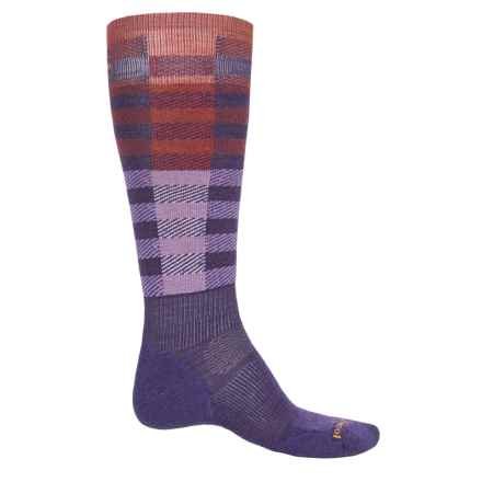 SmartWool PhD Slopestyle Light Ifrane Socks - Merino Wool, Over the Calf (Men and Women) in Mountain Purple - Closeouts