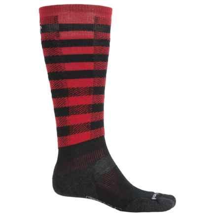SmartWool PhD Slopestyle Light Ifrane Socks - Merino Wool, Over the Calf (Men) in Black - 2nds