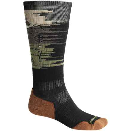 SmartWool PhD Slopestyle Light Osorno Socks - Merino Wool, Over the Calf (For Men and Women) in Black - 2nds