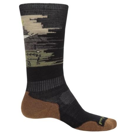 SmartWool PhD Slopestyle Light Osorno Socks - Merino Wool, Over the Calf (For Women) in Black