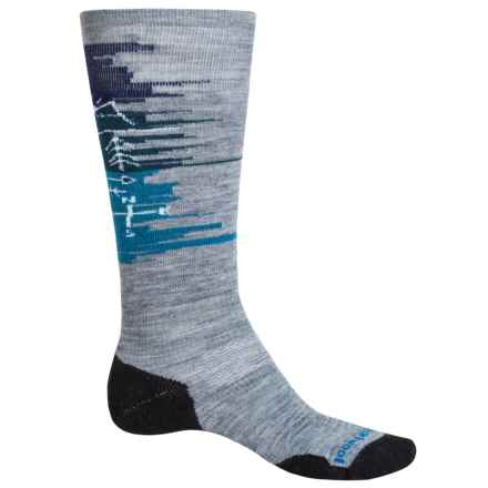 SmartWool PhD Slopestyle Light Osorno Socks - Merino Wool, Over the Calf (For Women) in Light Gray - Closeouts
